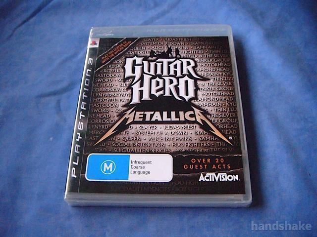 GUITAR HERO METALLICA PS3 Game on handshake