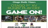 First XV Rugby Play-Off in Otago