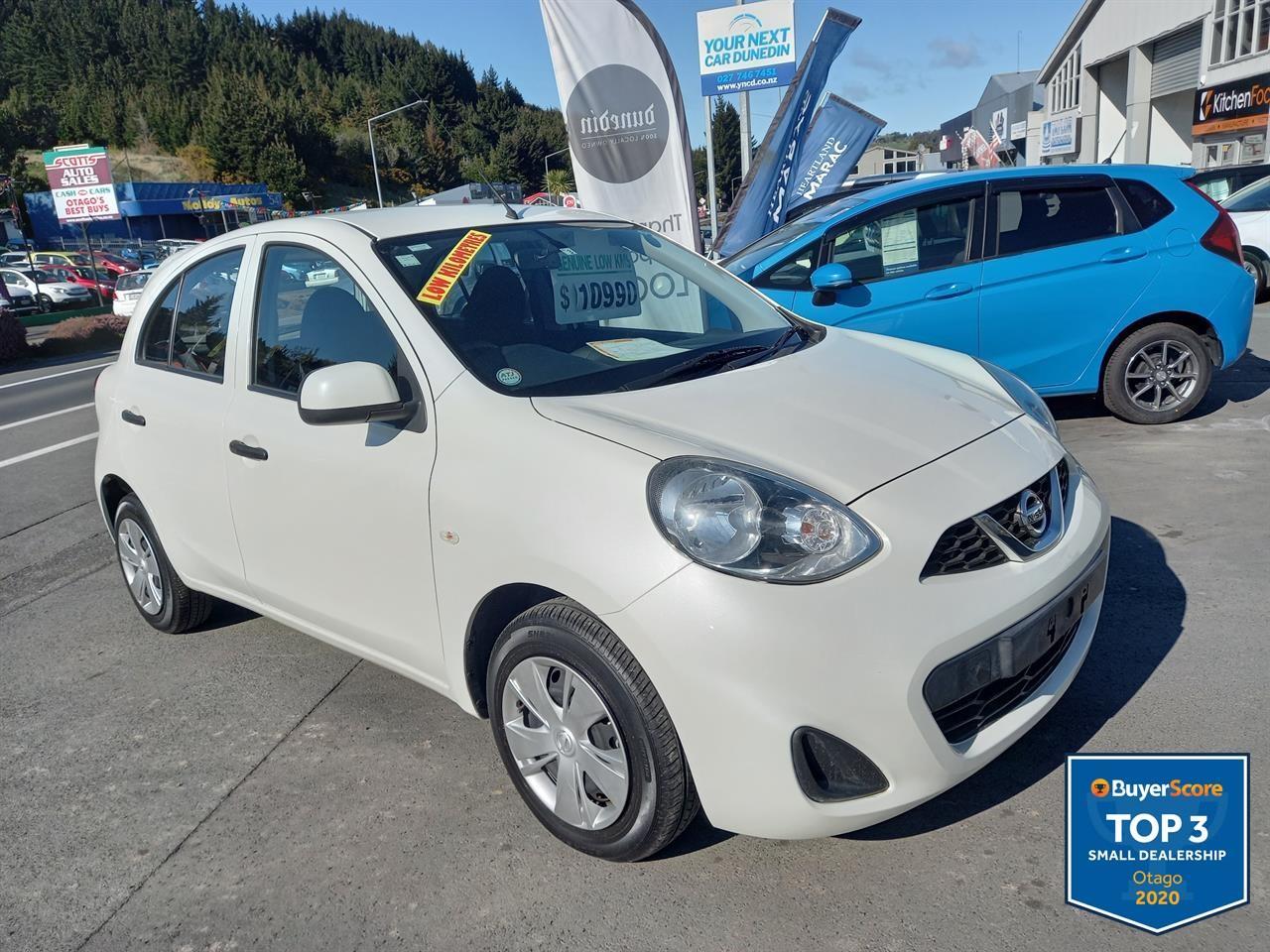 image-0, 2016 Nissan March S Low Km's No Deposit Finance at Dunedin