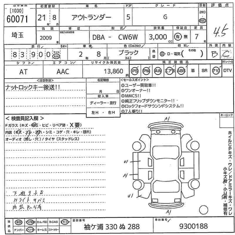 Mitsubishi 7 Seater: 2009 Mitsubishi Outlander G 4WD 7 Seater For Sale In Gore