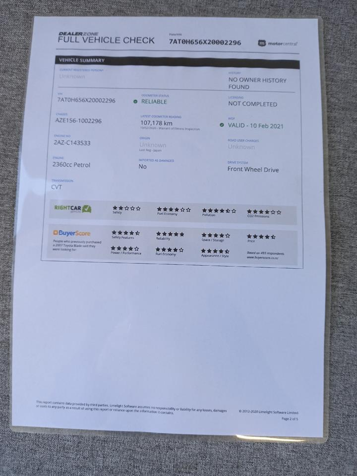 image-18, 2007 Toyota Blade 2.4G No Deposit Finance at Dunedin