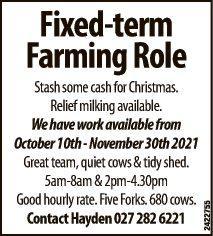 Fixed-term Farming Role