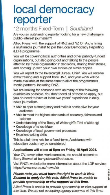 Local Democracy Reporter