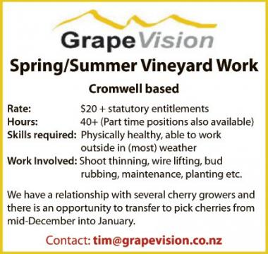 Spring/Summer Vineyard Work