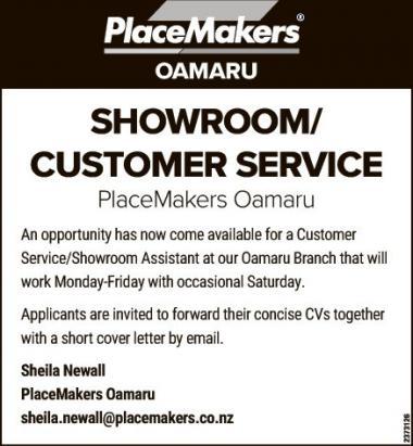 SHOWROOM/CUSTOMER SERVICE in Otago