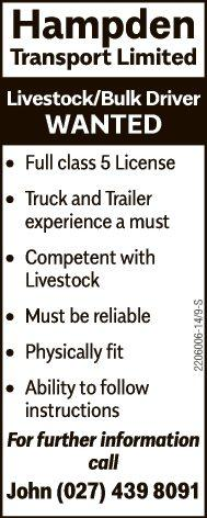 Livestock/Bulk Driver