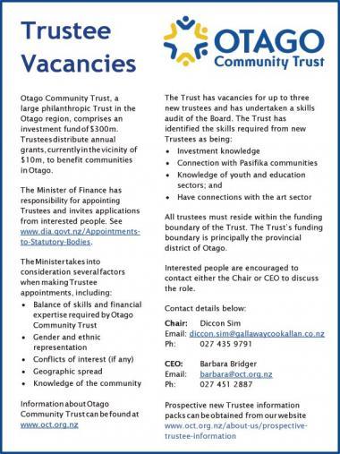 Trustee Vacancies