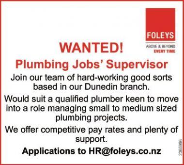 Plumbing Jobs' Supervisor