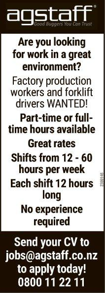 Are you looking for work in a great environment?