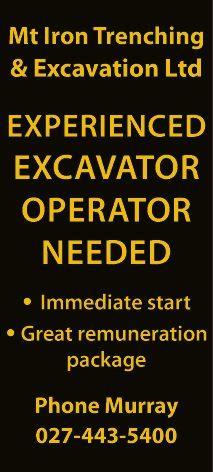 EXPERIENCED EXCAVATOR OPERATOR NEEDED