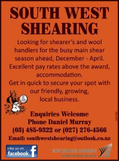 Shearer's and Wool Handlers