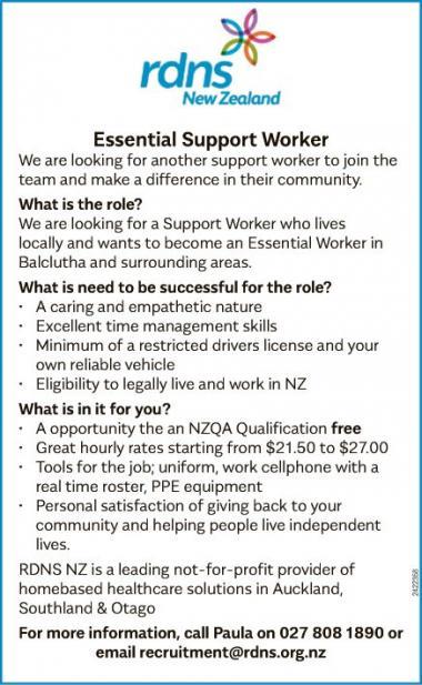 Essential Support Worker