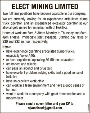 Two full time positions