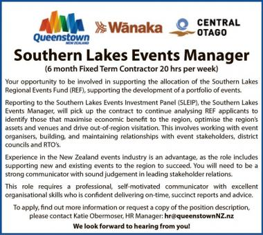 Southern Lakes Events Manager